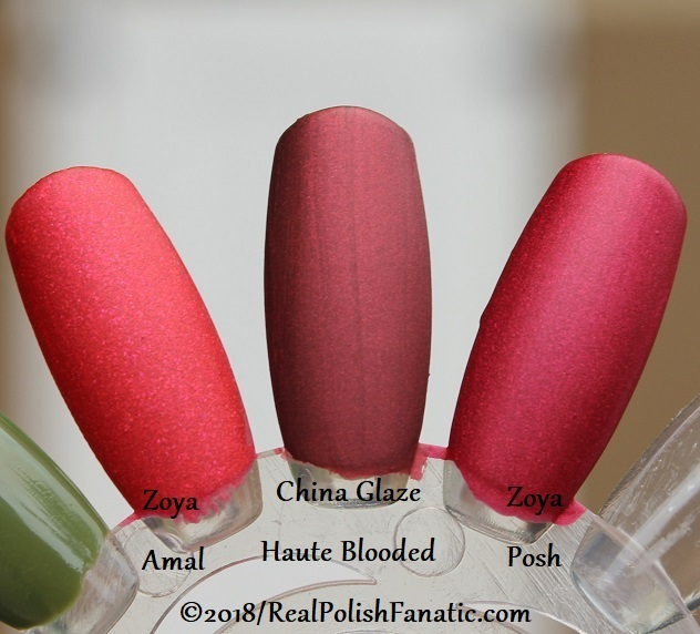 Comparison -- China Glaze - Haute Blooded -- Ready To Wear FW 18 Collection --- Comp with Zoya Amal & Zoya Posh (2)