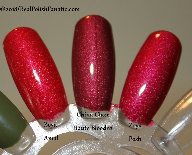 Comparison -- China Glaze - Haute Blooded -- Ready To Wear FW 18 Collection --- Comp with Zoya Amal & Zoya Posh (3)