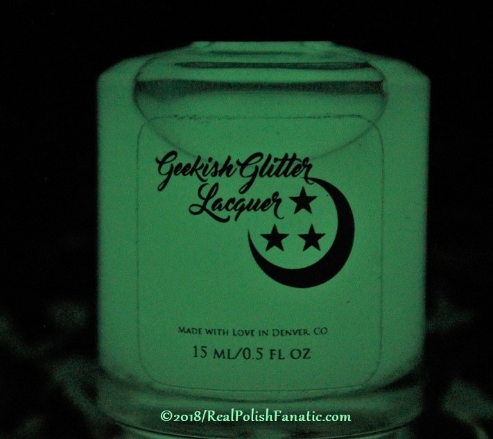 Geekish Glitter Lacquer – Earth GITD Topper -- AugSept 2018 Zodiac Series Virgo (5)