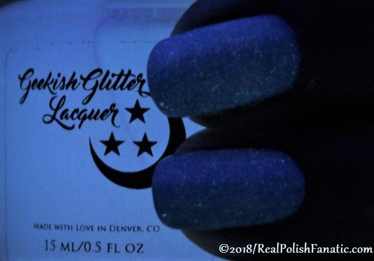 Geekish Glitter Lacquer - Air GITD Topper -- Libra Zodiac Series (2)