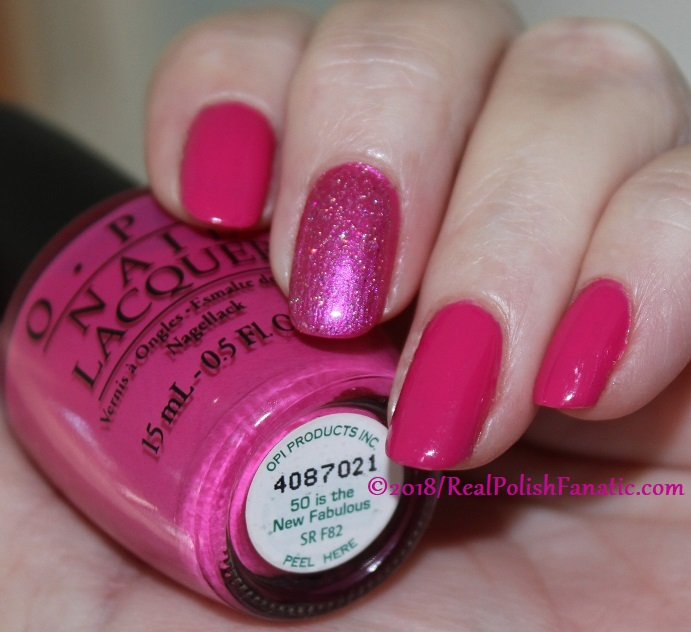 OPI 50 Is the New Fabulous with 1850 Artisan Polish Hollywood accent (5)