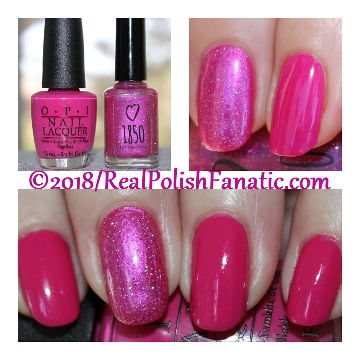 OPI 50 Is the New Fabulous with 1850 Artisan Polish Hollywood accent