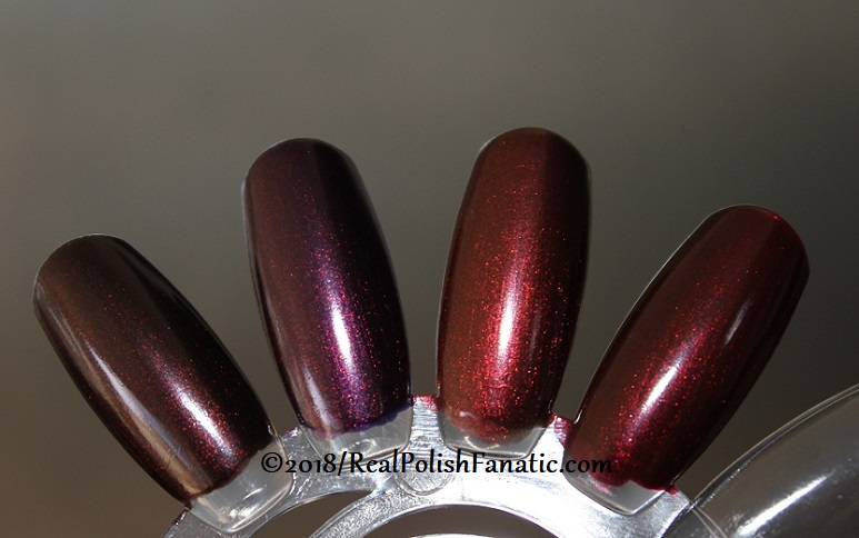 Comparison - OPI Black to Reality vs OPI EMiO vs OPI Germanicure vs OPI Royal Rajah Ruby (3)