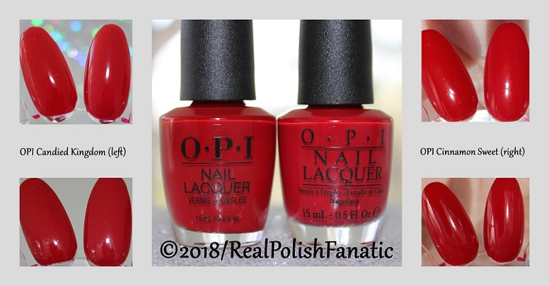 Comparison -- OPI Candied Kingdom vs. OPI Cinnamon Sweet