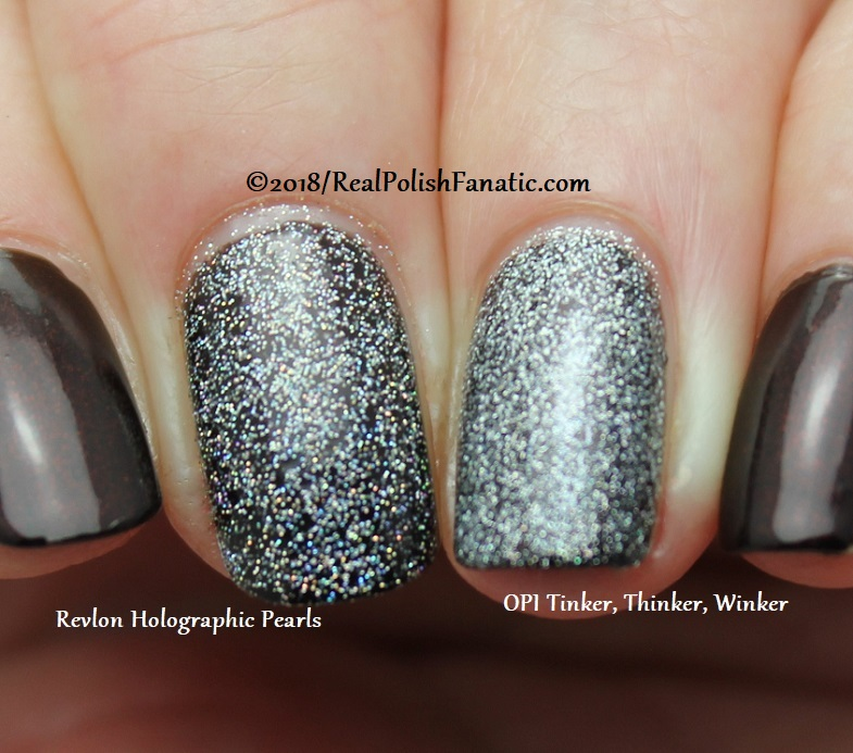 Comparison -- Revlon Holographic Pearls vs OPI Tinker, Thinker, Winker (1)