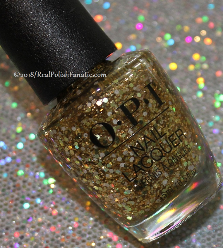OPI Glitters - Gold Key To The Kingdom -- Holiday 2018 Disney's The Nutcracker and the Four Realms Collection (2)