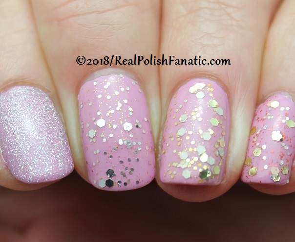 OPI Tinker, Thinker Winker + 3 Glitters and Lavendare to Find Courage (1)