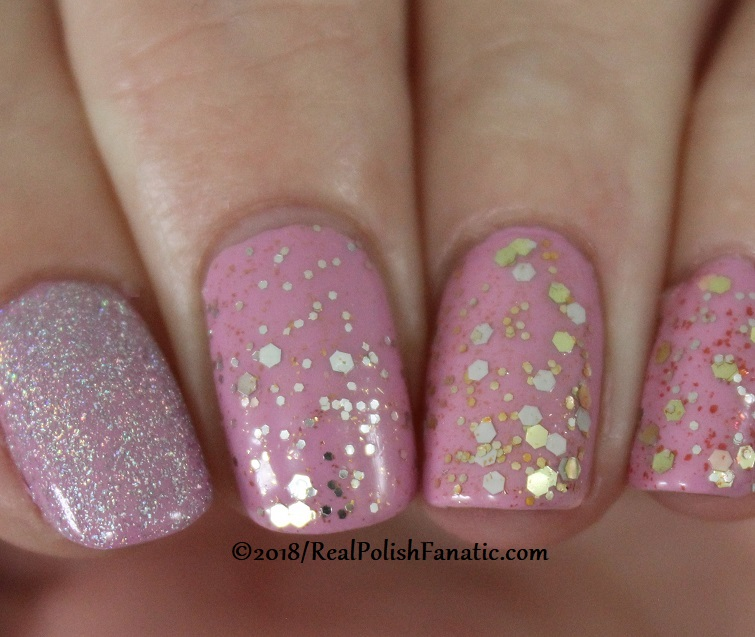 OPI Tinker, Thinker Winker + 3 Glitters and Lavendare to Find Courage (3)