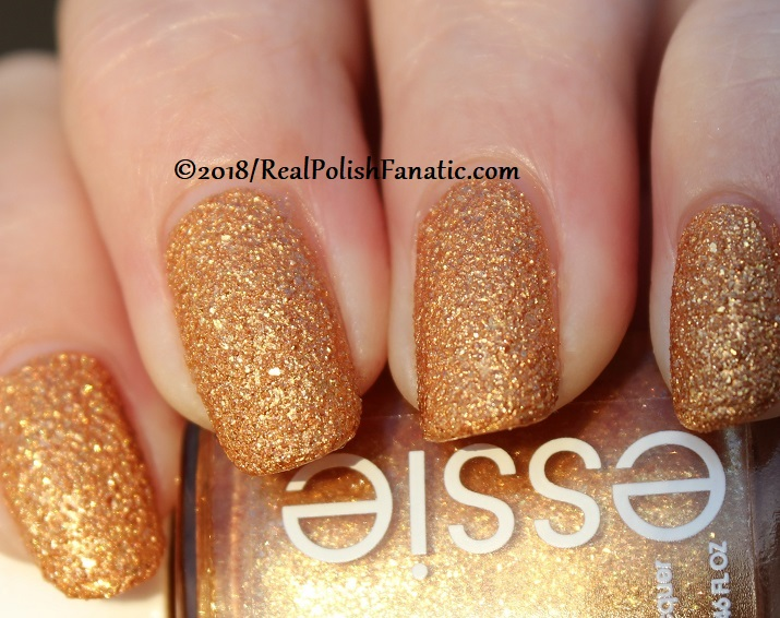 Essie - Can't Stop Her In Copper -- Fall 2018 Concrete Glitter Collection (24)