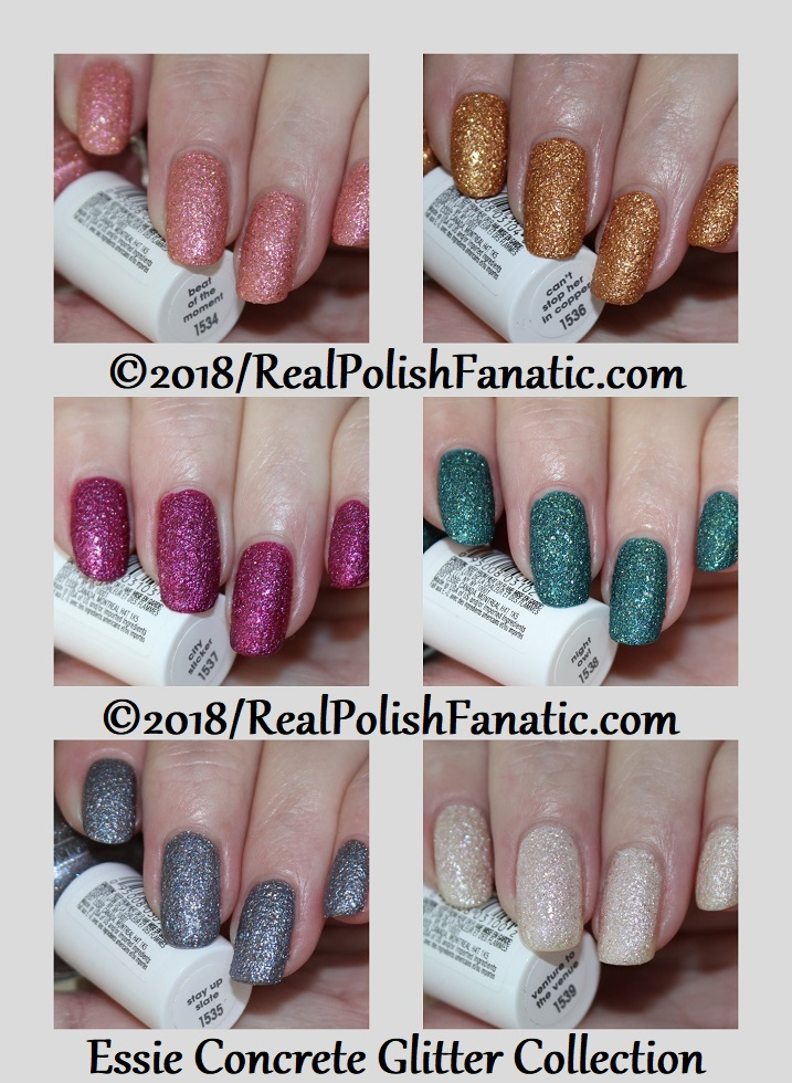 .Essie Fall 2018 Concrete Glitter Collection