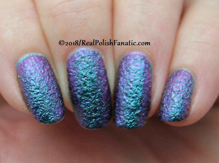 Layered Mani -- Tonic Peacock Parade over Essie Night Owl (2)