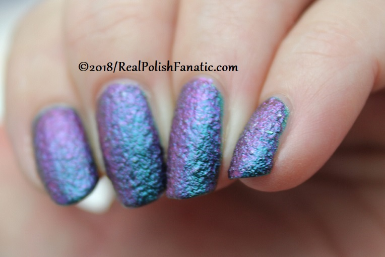 Layered Mani -- Tonic Peacock Parade over Essie Night Owl (4)