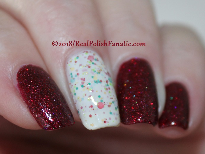 Geekish Glitter Lacquer - All Is Calm, All Is Bright, Who Is In My House Tonight with Noodles Nail Polish - Naughty or Nice (10)