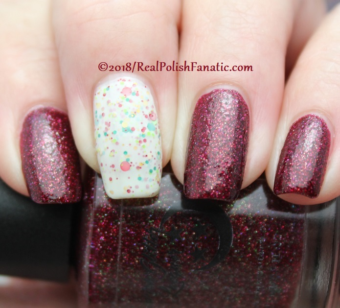Geekish Glitter Lacquer - All Is Calm, All Is Bright, Who Is In My House Tonight with Noodles Nail Polish - Naughty or Nice (14)