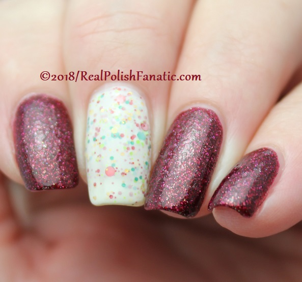 Geekish Glitter Lacquer - All Is Calm, All Is Bright, Who Is In My House Tonight with Noodles Nail Polish - Naughty or Nice (18)