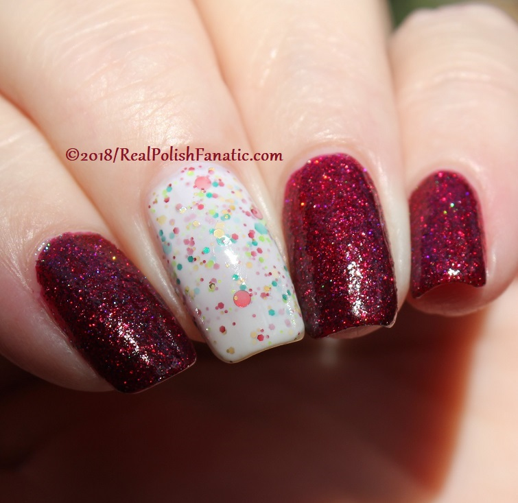 Geekish Glitter Lacquer - All Is Calm, All Is Bright, Who Is In My House Tonight with Noodles Nail Polish - Naughty or Nice (24)