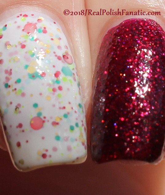 Geekish Glitter Lacquer - All Is Calm, All Is Bright, Who Is In My House Tonight with Noodles Nail Polish - Naughty or Nice (25)