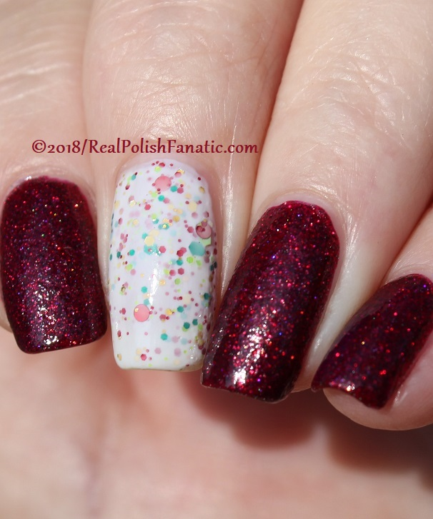 Geekish Glitter Lacquer - All Is Calm, All Is Bright, Who Is In My House Tonight with Noodles Nail Polish - Naughty or Nice (30)