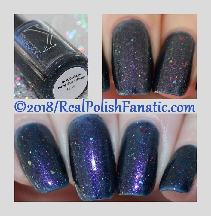 Baroness X Polish - In A Galaxy Purr, Purr Away -- November 2017 Cats In Space Box