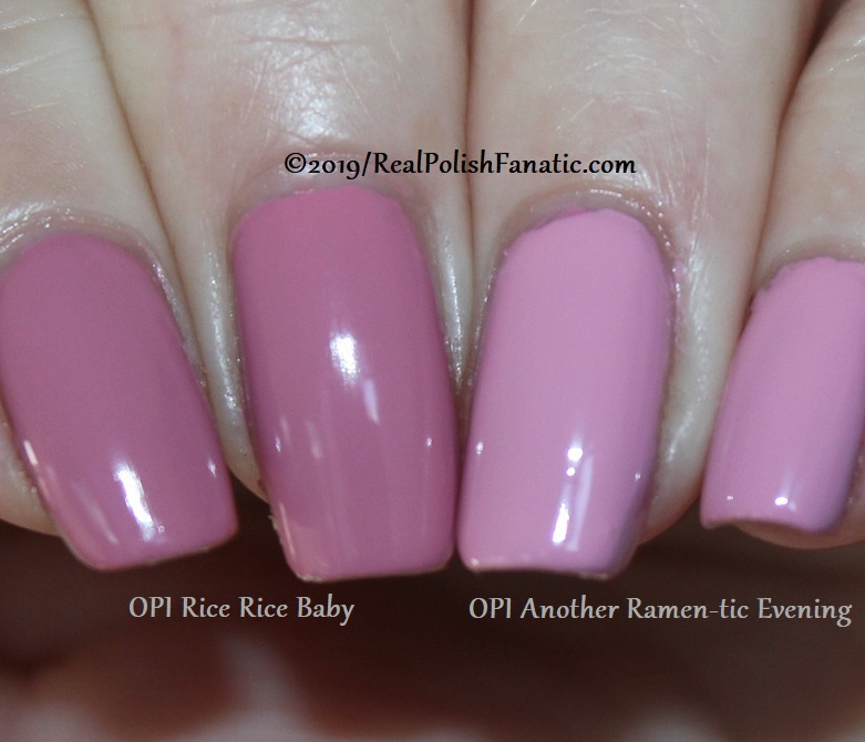 comparison opi - another ramen-tic evening & rice rice baby -- spring 2019 tokyo collection (1)