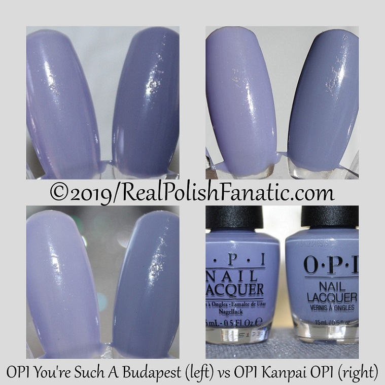 comparison - opi you're such a budapest vs opi kanpai opi