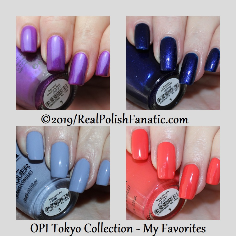 opi tokyo collection - spring 2019 -- my favorites