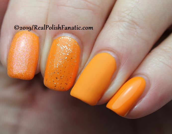 China Glaze - Good As Marigold with Better Than Nectar, Wildflower Hour, Matte topcoat -- The Arrangement Collection Spring 2019 (3)
