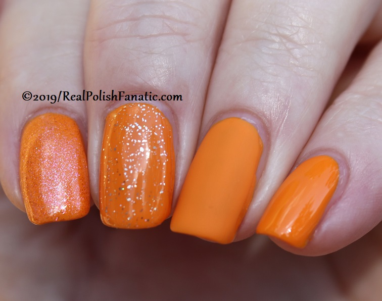 China Glaze - Good As Marigold with Better Than Nectar, Wildflower Hour, Matte topcoat -- The Arrangement Collection Spring 2019 (6)