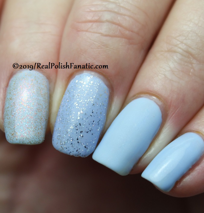 China Glaze - Hydangea Dangea with Better Than Nectar, Wildflower Hour, Matte topcoat -- The Arrangement Collection Spring 2019 (3)