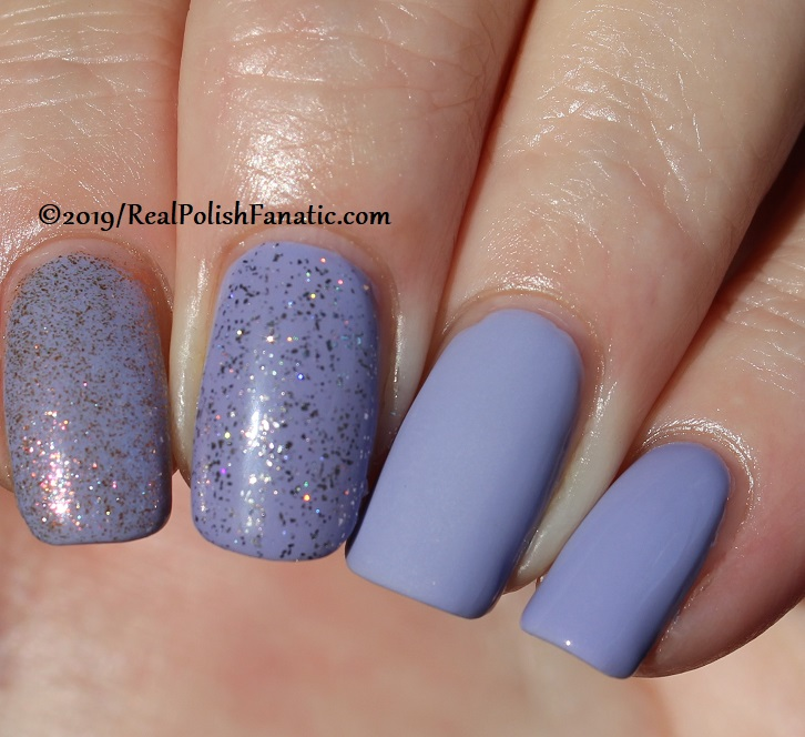 China Glaze - Lavenduh! with Better Than Nectar, Wildflower Hour, Matte topcoat -- The Arrangement Collection Spring 2019 (10)