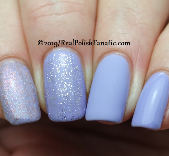 China Glaze - Lavenduh! with Better Than Nectar, Wildflower Hour, Matte topcoat -- The Arrangement Collection Spring 2019 (2)
