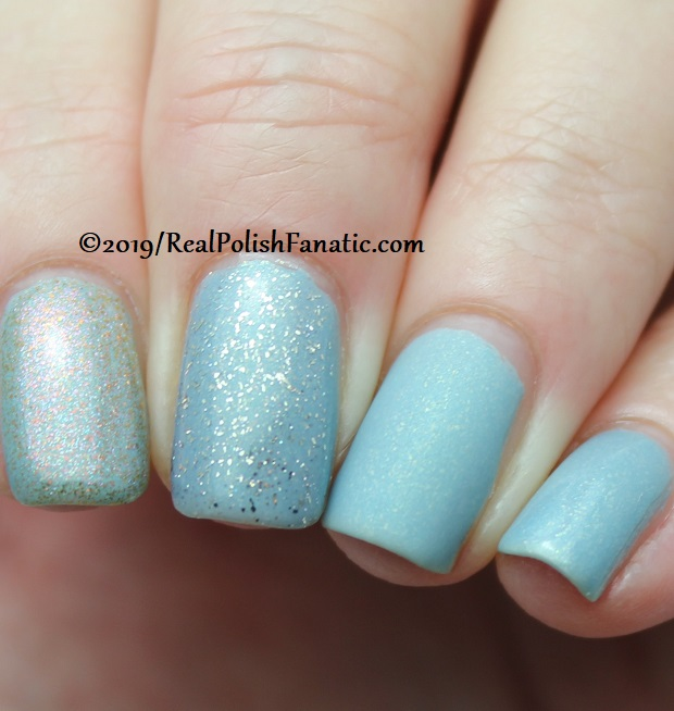 China Glaze - This Is Ranunculus with Better Than Nectar, Wildflower Hour, Matte topcoat -- The Arrangement Collection Spring 2019 (5)
