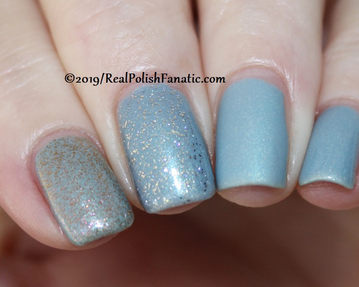 China Glaze - This Is Ranunculus with Better Than Nectar, Wildflower Hour, Matte topcoat -- The Arrangement Collection Spring 2019 (7)