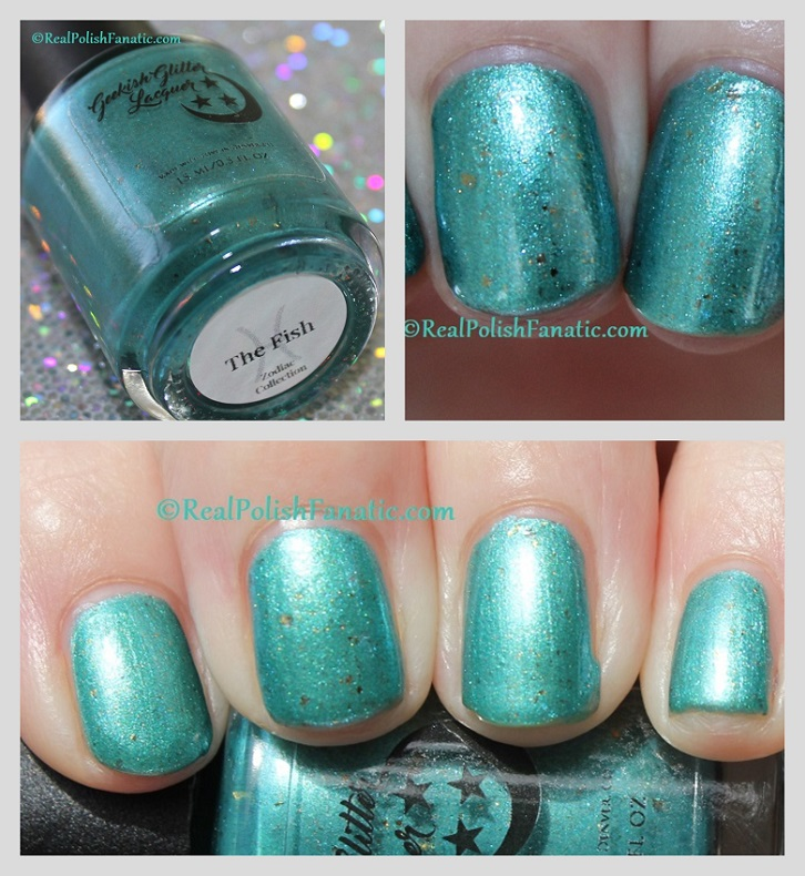 Geekish Glitter Lacquer - The Fish -- Pisces Zodiac Series