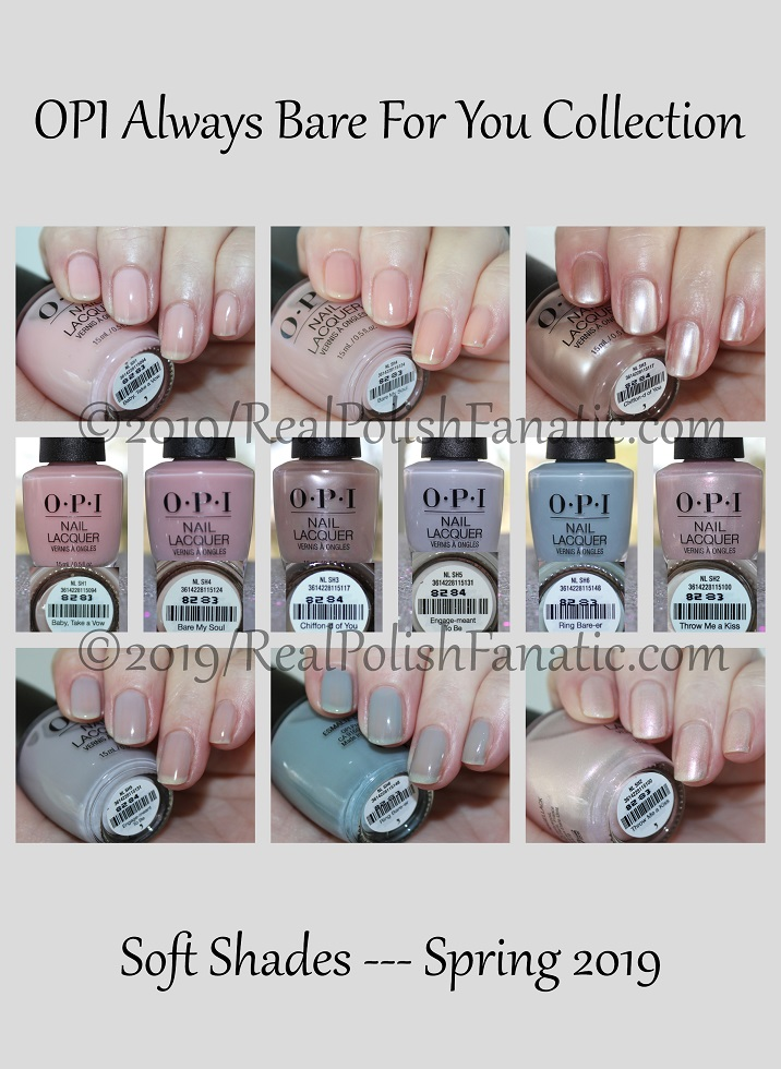 OPI Always Bare For You Collection - Soft Shades Spring 2019