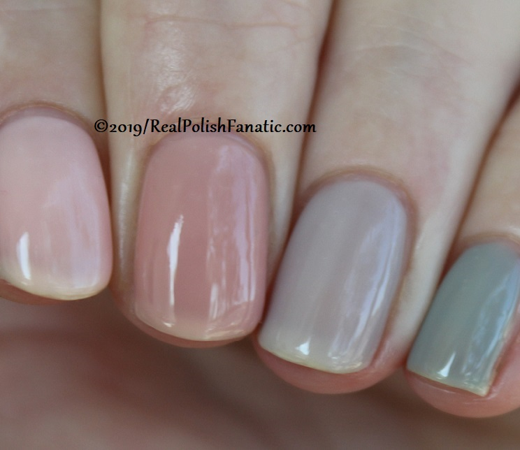 OPI Baby, Take a Vow (index), Bare My Soul (middle), Engage-meant to Be (ring), Ring Bare-er (pinkie) (12)