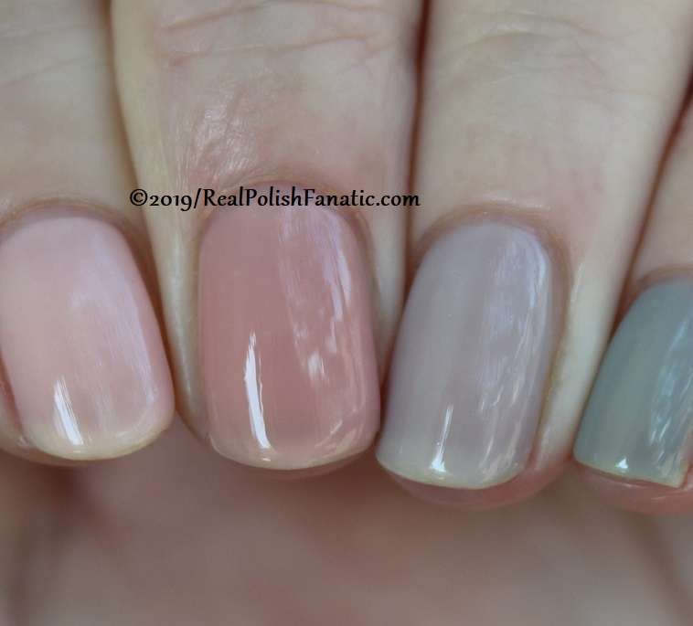 OPI Baby, Take a Vow (index), Bare My Soul (middle), Engage-meant to Be (ring), Ring Bare-er (pinkie) (13)