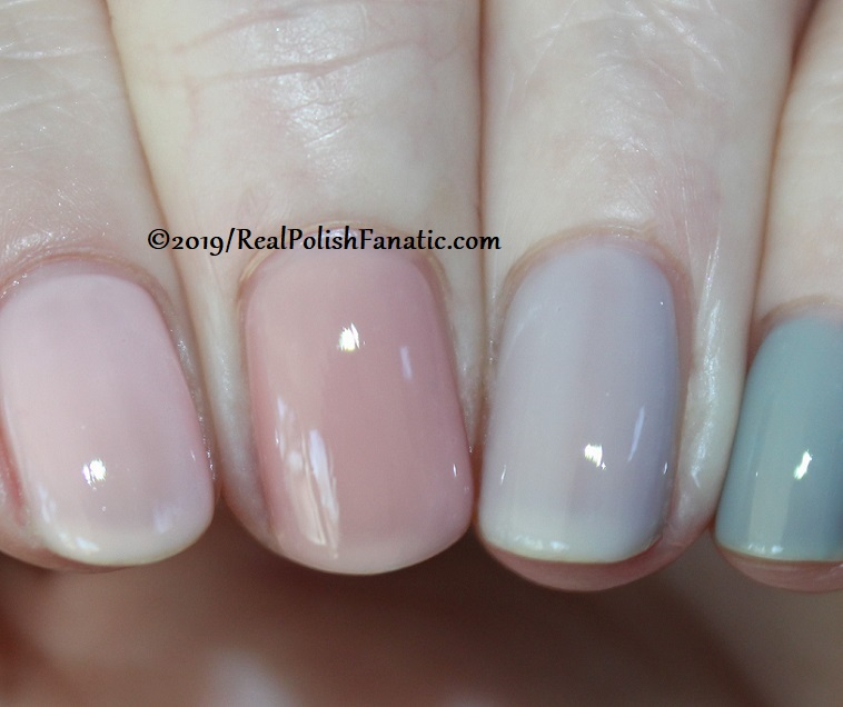 OPI Baby, Take a Vow (index), Bare My Soul (middle), Engage-meant to Be (ring), Ring Bare-er (pinkie) (19)