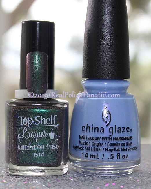 Blogger Collaboration - Top Shelf Lacquer Resistant To Magic stamped with China Glaze Glamletics (1)