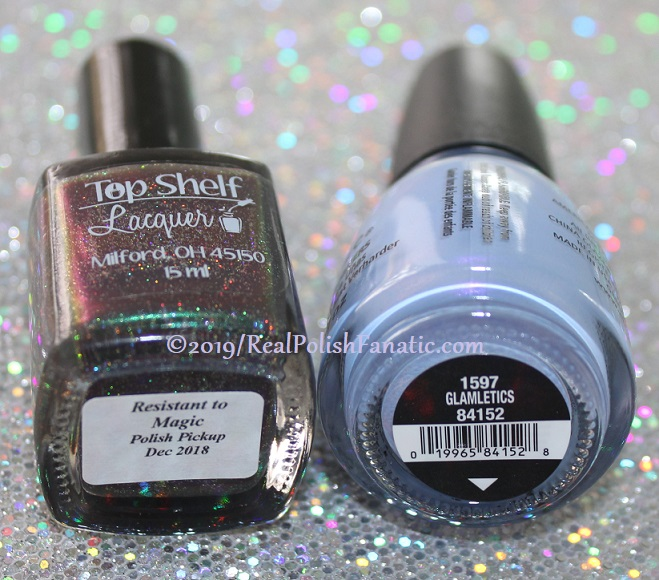 Blogger Collaboration - Top Shelf Lacquer Resistant To Magic stamped with China Glaze Glamletics (2)