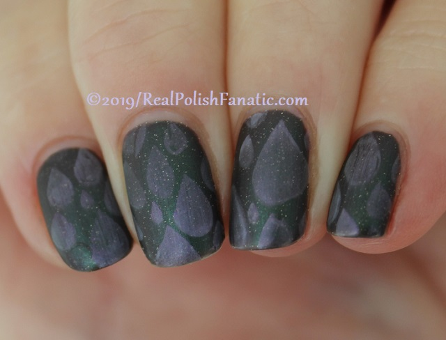 Blogger Collaboration - Top Shelf Lacquer Resistant To Magic stamped with China Glaze Glamletics (3)