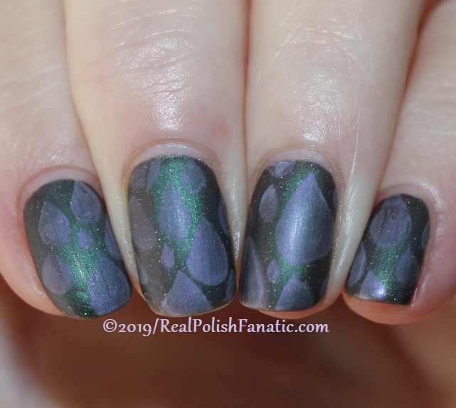 Blogger Collaboration - Top Shelf Lacquer Resistant To Magic stamped with China Glaze Glamletics (4)