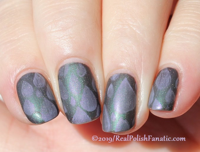 Blogger Collaboration - Top Shelf Lacquer Resistant To Magic stamped with China Glaze Glamletics (6)
