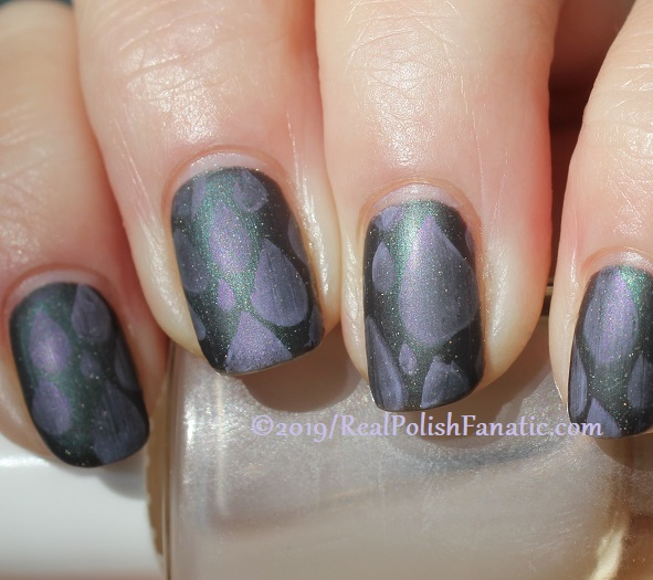 Blogger Collaboration - Top Shelf Lacquer Resistant To Magic stamped with China Glaze Glamletics (8)