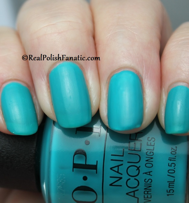 OPI - Dance Party Teal Dawn -- Neon Collection Summer 2019 (6)