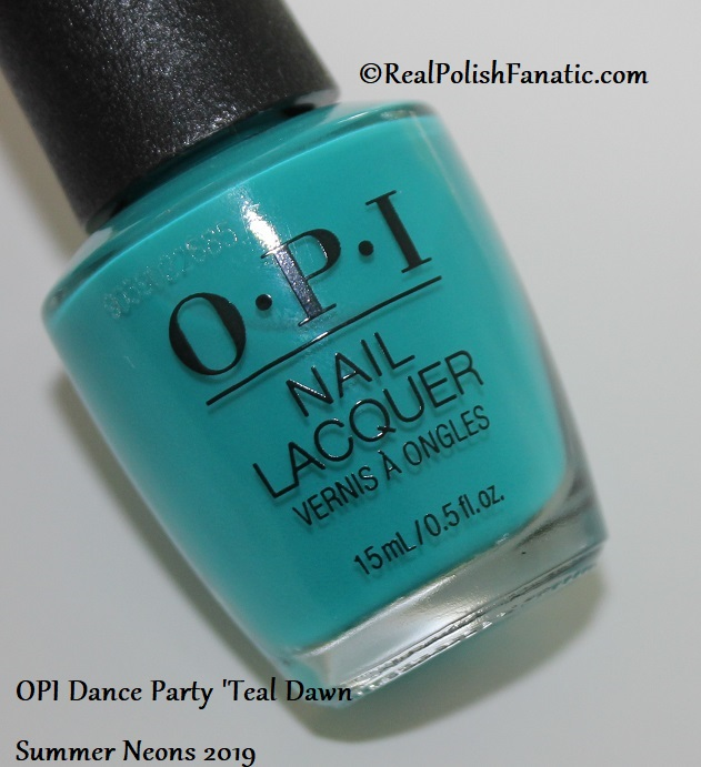 OPI - Dance Party Teal Dawn -- Summer Neons 2019 (1)