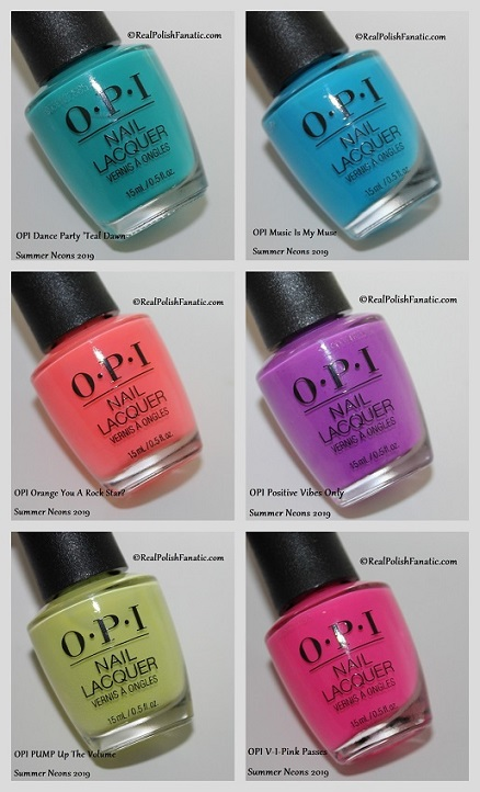 Opi Neon Collection Summer 2019 Swatch And Review