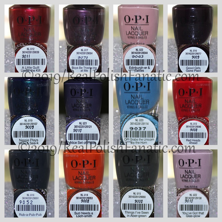 OPI Scotland Collection Fall 2019