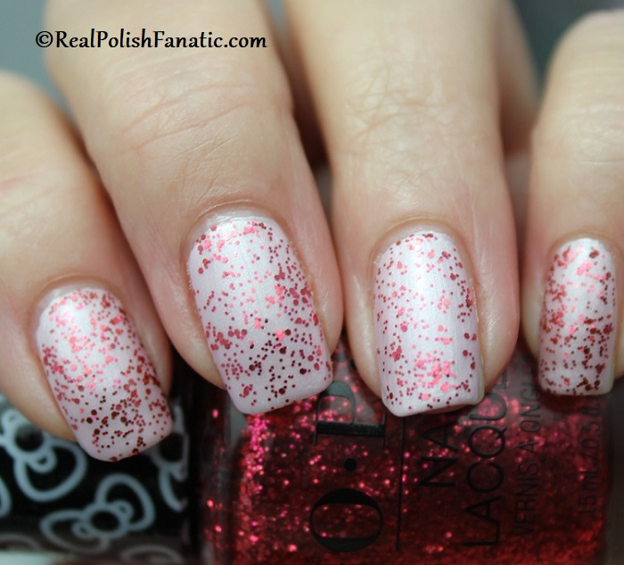 OPI - Dream In Glitter over A Hush of Blush -- OPI Hello Kitty 2019 Holiday Collection - Glitter Trio (11)