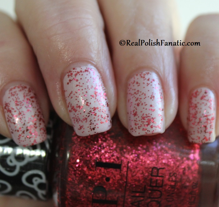 OPI - Dream In Glitter over A Hush of Blush -- OPI Hello Kitty 2019 Holiday Collection - Glitter Trio (15)